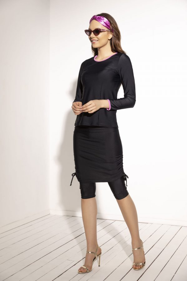 חולצה וחצאית עם טייץ פנימי 4